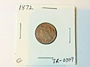 1872 Three Cent 3c Nickel