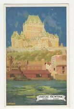 Canada, Chateau Frontenac Quebec, Canadian Pacific Postcard, B148