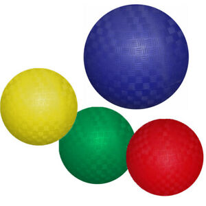 New Bounce Playground PG7'' Balls - Set of 4 + a Pump & Pin, for outdoor play