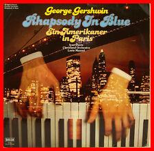 """Gershwin Rhapsody in Blue un americano a Parigi Ivan Davis Maazel 12"""" LP b703"""