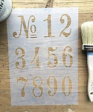Old Numbers Stencil, Vintage French Numbers Stencil, House Numbers Stencil Decal