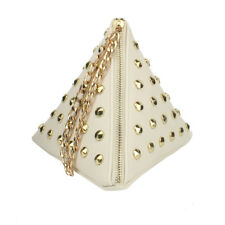 Leather Triangle Shape Vintage Design Small Casual Bag
