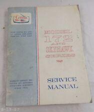 1969 Cessna 172 & Skyhawk Series Service Manual Catalog