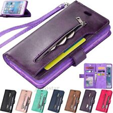 9 Card Slot Book Flip Leather Wallet Case Cover For iPhone 11 Pro XS Max 6s 7 8