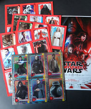 TOPPS JOURNEY TO STAR WARS THE LAST JEDI (6 X PROMO SHEETS & A4 ART CARD)