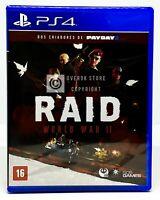 Raid: World War II 2 - PS4 - Brand New | REGION FREE | Portuguese Cover