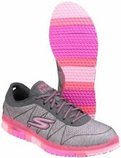 Skechers Flex Lace Up Textile Trainers for Women