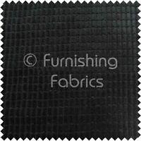 Brick Effect Soft Velvet Jumbo Cord Upholstery Sofa Fabric Material Black Colour