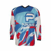 PULSE STORM KIDS YOUTH RED & WHITE MOTOCROSS MX QUAD BMX MOUNTAIN BIKE JERSEY