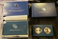 2012 S American Silver Eagle Two Coin Silver Proof & Reverse Set w/ Box & COA