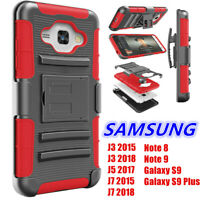 For Samsung Galaxy Shockproof Case Holster Armor Cover With Belt Clip Kickstand
