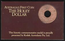 1988 NEW SOUTH WALES HOLEY DOLLAR MEDAL by KODAK in ORIGINAL CARD of ISSUE