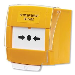 C-Tec Yellow Extinguishant Release Call Point, Surface (BF372)