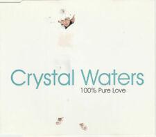 CRYSTAL WATERS 100% Pure Love 1994 CD Single - Like New
