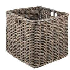 Square 59cm Wicker Log Storage Basket