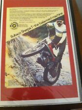 Vintage Bultaco Sherpa Trials motorcycle Poster Man Cave Garage Art Fathers Day