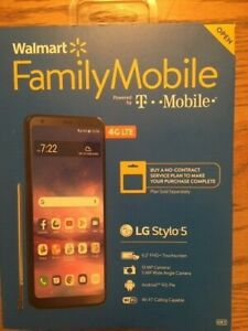 WALMART MOBILE LG STYLO 5 Charcoal BRAND NEW PREPAID CELL PHONE T MOBILE