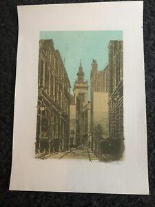 ROBERT TAVENER R.E. Limited Ed LITHOGRAPH St Michael Paternoster Royal, London