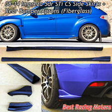 Bottom Line Style Side Skirts + Rear Aprons (Fiberglass) Fit 08-14 Impreza 5dr