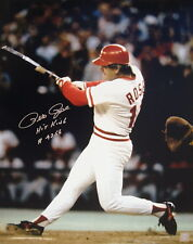 """Pete Rose """"The Hit"""" Autographed Signed 16x20 Photo ASI Proof"""