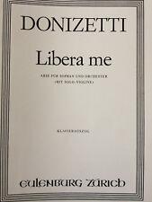 Donizetti - Libera me - Arie - für Sopran und Orchester, Klavierauszug