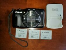 Canon PowerShot SX710 HS 20.3MP Digital Camera 30X Optical Zoom - 3 batteries