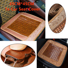 1x Summer Cold Wooden Bead Cushion For Car Truck & Office Chair/Sofa Seat Cover