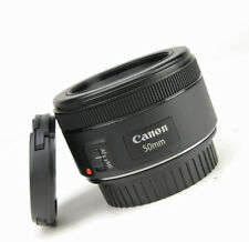 Canon EF 50mm F1.8 STM Autofocus Prime Lens - Sold with Front & Rear Lens Caps