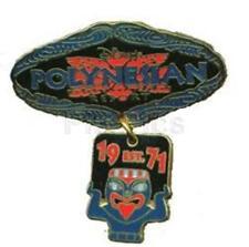 POLYNESIAN RESORT LOGO Dangle TIKI MASK FACE EST Established 1971 DISNEY PIN