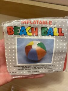 "Vintage Inflatable Beach Ball 12"" NOS No. IN168 Colorful"
