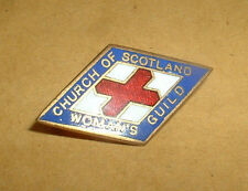 BRASS/ENAMEL BADGE--CHURCH OF SCOTLAND WOMANS GUILD