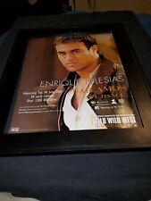 Enrique Iglesias Bailamos Rare Original Radio Promo Poster Ad Framed!