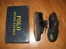 NWB Polo Ralp Lauren Boys Crofton II Toddler Little kid Sneaker Black Size 1