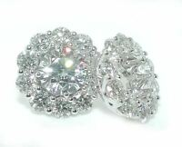 3.25 CT BRILLIANT Round DIAMOND Stud Earring JACKETS 14K White Gold
