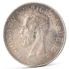 2 Kronen Silber Münze Schweden 1935 Gustaf Gustav V Sveriges Silver Coin Sweden
