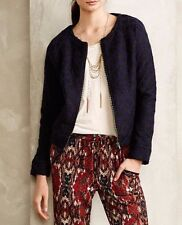 Anthropologie Moth Wool Madeleine Lace Bomber Jacket NwT Petite S