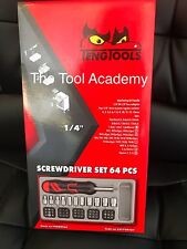 TENG TOOLS T4 SALE! ANGLED RATCHET BITS SOCKET DRIVER SET WITH TRAY 64PC