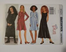 Butterick 3321 Size 7-14 Girls' Jacket Dress