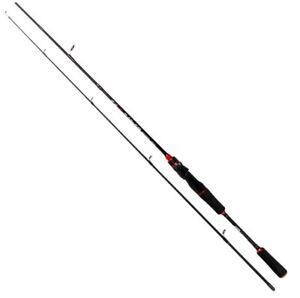 Rollfish Medium light Mod Fast Spinning Rod 6' 2pc. Black/Red~FREE Shipping