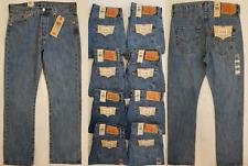 Levis 501 Straight Leg Button Fly Mens Jeans Blue Szs-31,32,33,34,36,38 #5010193