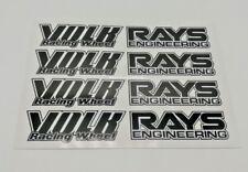 JDM Wheel stickers,rim decals ,rays volk,TE37,LE37,GTP,15-18 inch,Black,8pcs