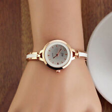 Womens Ladies Gold Girls Round Quartz Analog Fashion Dress Bracelet Wrist Watch