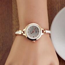 Womens Ladies Gold Girls Round Quartz Analog Fashion Dress Bracelet Wrist Watch