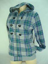 New Junior Womens Medium Roxy Breezy Gray Jacket Hoody Fleece $70