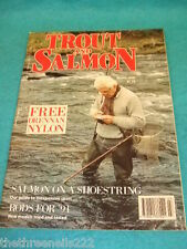 TROUT AND SALMON - SALMON ON A SHOETHING - MARCH 1998
