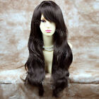 Beautiful Heat Resistant Dark Coffee Brown Long Wavy Ladies Wigs From WIWIGS UK