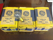 Lot of 18 GE 10S11N Clear 10W S11 120V Light Bulbs NIB!