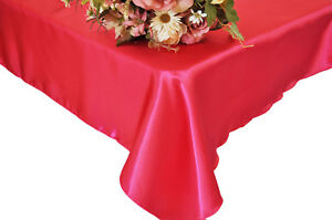 """10 Square 60"""" X 60"""" Satin Overlays Tablecloths Wholesale Seamless Made in USA"""