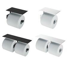 Klarhaus Toilet Paper Holder with Shelf, Stainless Steel, Chrome Finish