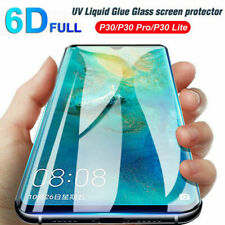 For Huawei P30 Pro Mate 20 Pro 6D Full UV Liquid Tempered Glass Screen Protector